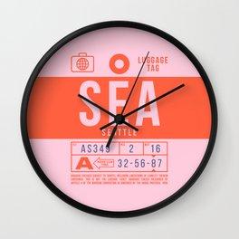 Luggage Tag B - SEA Seattle USA Wall Clock