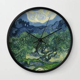 The Olive Trees Wall Clock