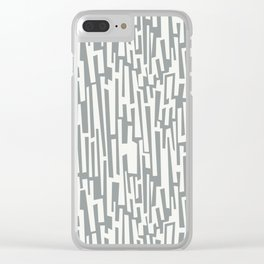 Winter Abstracts 8 Clear iPhone Case