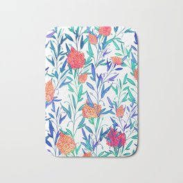 Vibrant Floral #society6 #buyart #decor Bath Mat
