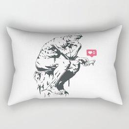 Banksy Modern Thinker Artwork Reproduction for Wall Art, Prints, Posters, Tshirts, Men, Women, Kids Rectangular Pillow