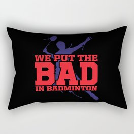 Badminton Rectangular Pillow