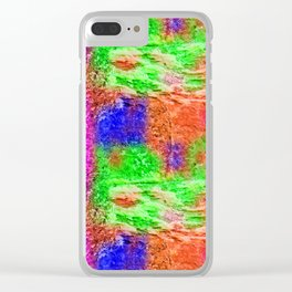 Colourful Abstract Texture Clear iPhone Case