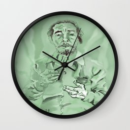 Half-bust self-portrait Wall Clock