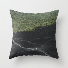 Volcano Cerro Negro Throw Pillow