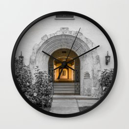 Passage to Covered Walkway Gale Hall Lyman Hall Rollins College Central Florida Orlando Winter Park Wall Clock