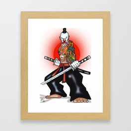 Clown Samurai Framed Art Print