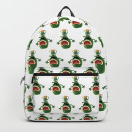 Angry wine bottle Backpack