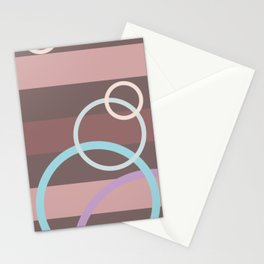 Circles&Coffee-colored lines Stationery Cards