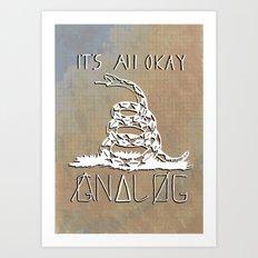 Gnalog (Analog Zine) Art Print