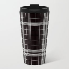 Back to School- Simple Handdrawn Grid Pattern- Black & White- Mix & Match with Simplicity of Life Travel Mug