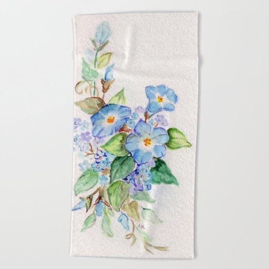 Heavenly Blues Beach Towel