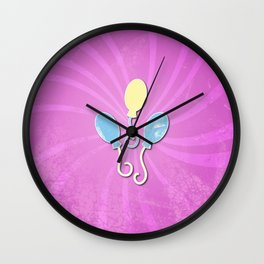 my grunge little pony.. pinkie pie Wall Clock