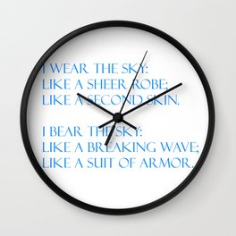 Summer air (white) Wall Clock