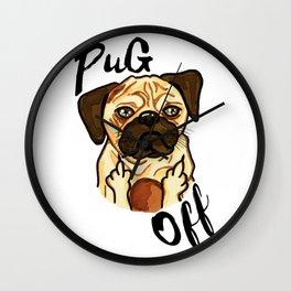 Pug Off Wall Clock