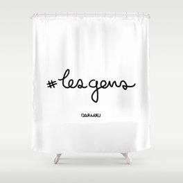 #lesgens - Black Shower Curtain