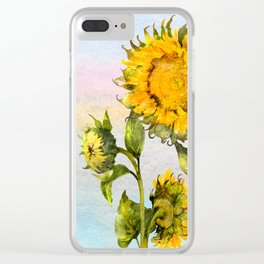 Sunflower 2 Clear iPhone Case
