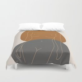 Line Female Figure 81 Duvet Cover
