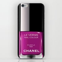nail polish iPhone & iPod Skins featuring PURPLE NAIL POLISH by Graphic Craft