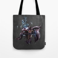 magneto Tote Bags featuring Magneto  by Bigcookben