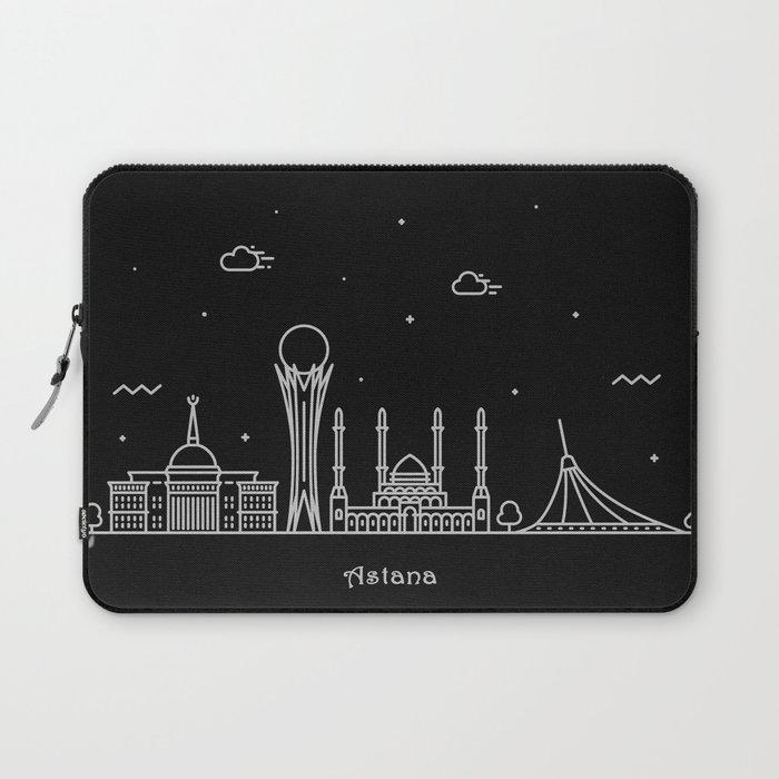 Astana Minimal Nightscape / Skyline Drawing Laptop Sleeve