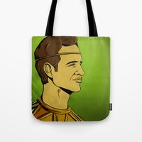 watchmen Tote Bags featuring It's Always Sunny in Watchmen - Dennis by Jessica On Paper