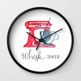 Red Stand Mixer - kitchen art, baker Wall Clock