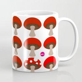 Mushroom in White Coffee Mug