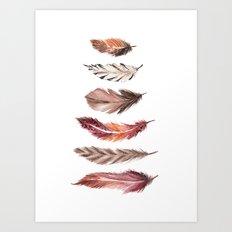 Bohemian Feathers Art Print