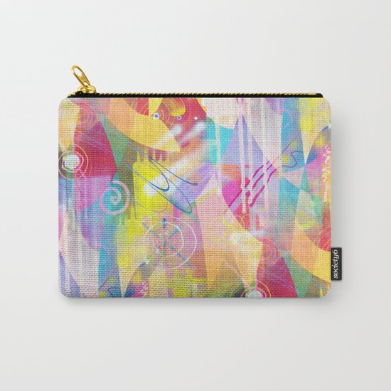 Summer Chaos Painted Carry-All Pouch