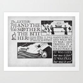 the letter! the litter! Art Print