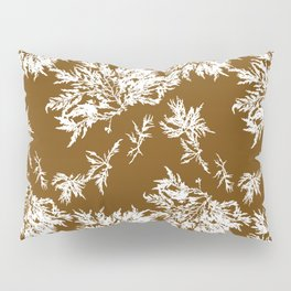 Brown Seaweed Pattern Pillow Sham