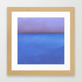 Blue sea Purple sky Framed Art Print