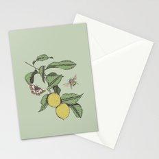 Lemons in Spring Stationery Cards