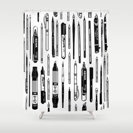 Pent Up Creativity (BW) Shower Curtain