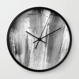 I feel grey today (happy) Wall Clock