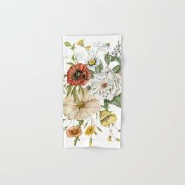 Wildflower Bouquet on White Hand & Bath Towel