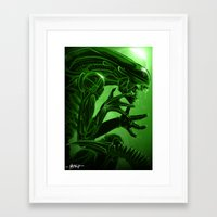 xenomorph Framed Art Prints featuring Xenomorph by Mstap