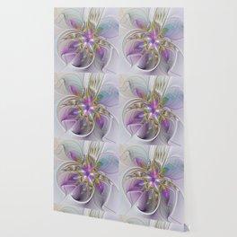 Flourish Abstract 2, Fantasy Flower Fractal Wallpaper