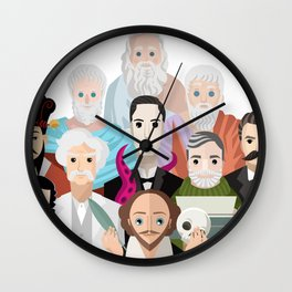 great philosophers and writers from all times Wall Clock