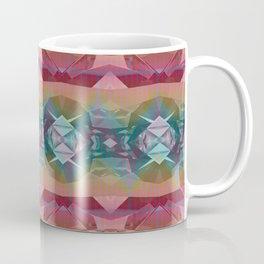 Mauve and Indigo Southwestern Tribal Boho Coffee Mug