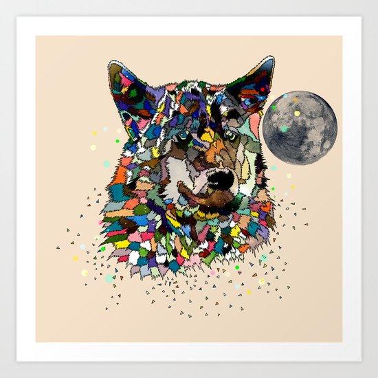 Space wolf Art Print