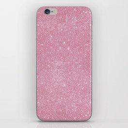 Pastel Pink Glitter iPhone Skin