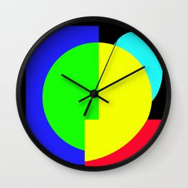GETTING IN SHAPE - FUN SHAPED GEOMETRIC MULTI COLOURED DESIGN Wall Clock