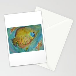 Colorful tropical fish art Stationery Cards