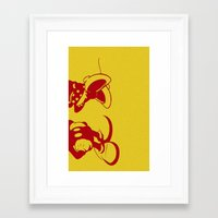 minnie mouse Framed Art Prints featuring Mickey and Minnie Mouse by Katherine Marshall