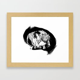Tyger! Tyger! Burning bright Framed Art Print