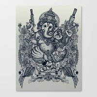 ganesh Canvas Prints featuring Ganesh by MR. VELA
