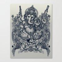 ganesh Canvas Prints featuring Ganesh by MR VELA