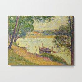 Gray weather Grande Jatte 1888 Oil Painting Pointillism Post-Impressionism Impressionism Modern art Metal Print